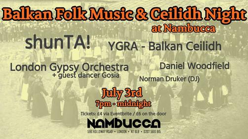 Evening of Balkan dances and music at Nambucca