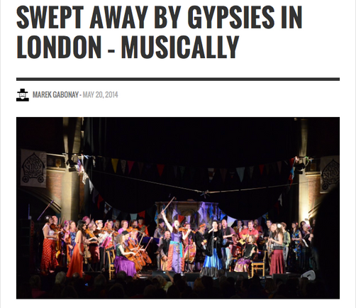 SWEPT AWAY BY GYPSIES IN LONDON – MUSICALLY