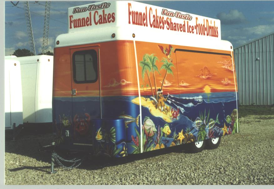 Hand Painted Trailer