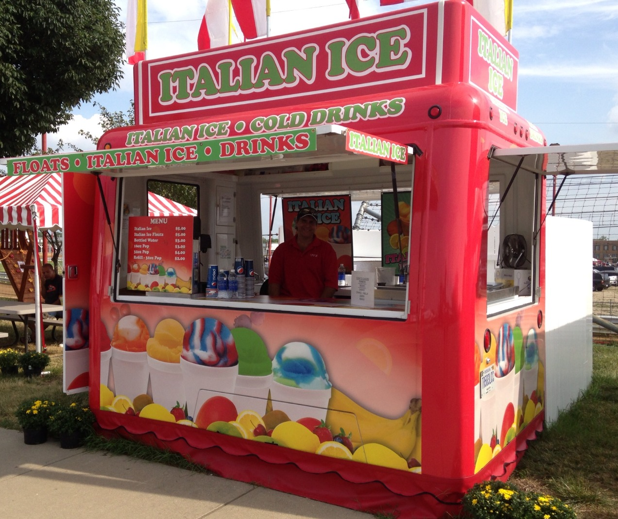 Italian Ice Concession Trailer