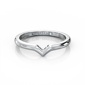 CIUFOLI D-Iconico Wedding Band Platinum