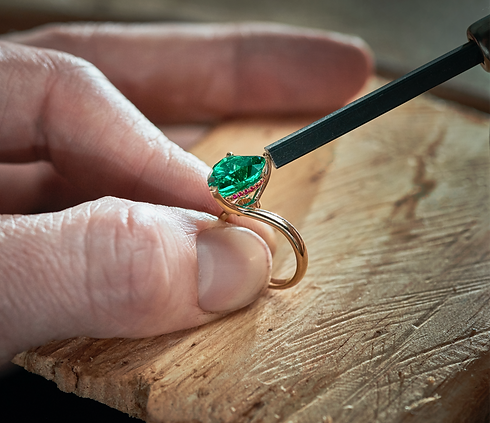 Ciufoli Columbian Emerald and Ruby Ring