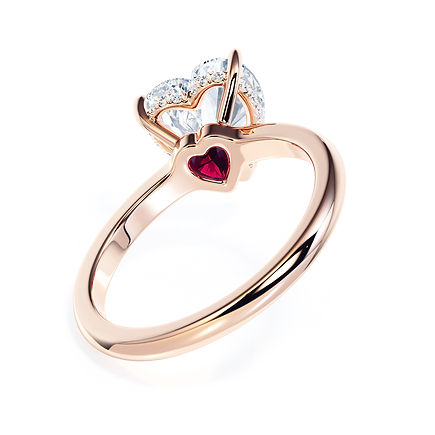 Iconico Engagement Ring (18ct Pink Gold