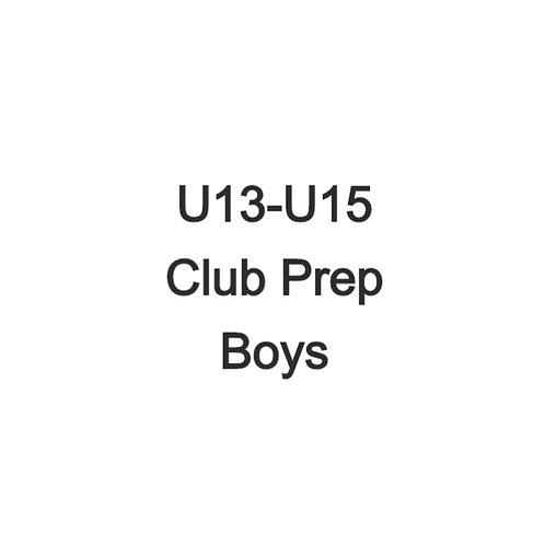 Boys U13-U15 Club Prep Weekend
