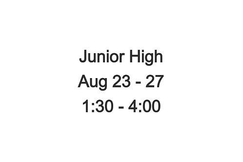 Junior High Indoor Camp August 23 - 27, 1:30 - 4:00