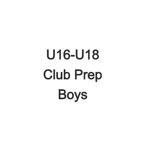 Boys U16-U18 Club Prep Weekend