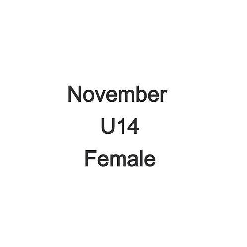 November U14 Female Cohorts