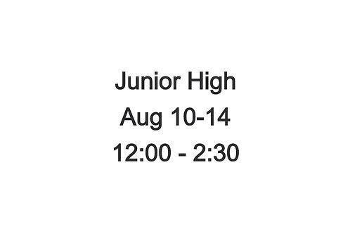 Junior High Indoor Camp August 10-14, 12:00-2:30 PM