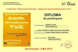 Diploma 9 mai 20`13- Racovita
