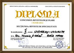 diploma revista  u4energy 2012