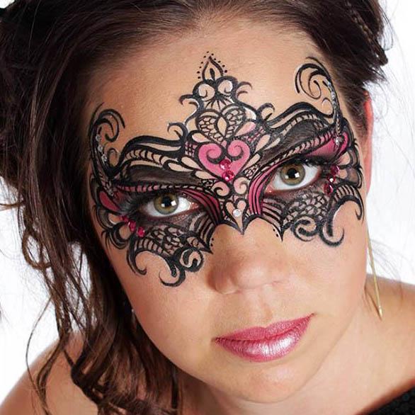 Ansiktsmålning maskerad halloween