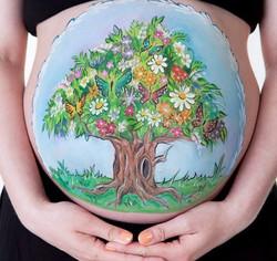 Bellypainting gravid målning