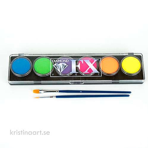 Diamond Fx Neon/UV Palett 6x10g
