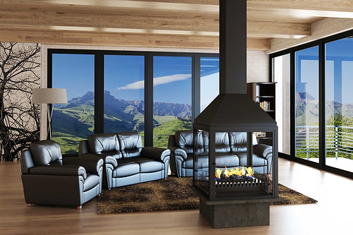 Double-Sided Universal Grate Fireplace (VFGD-800)