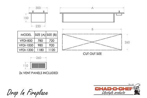 Drop-In Fireplace (VFDI-800)