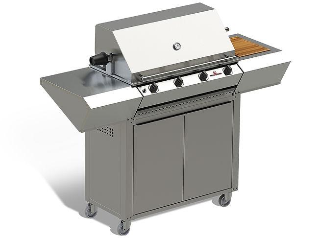 Chad-O-Chef - 4 Burner Hybrid Braai