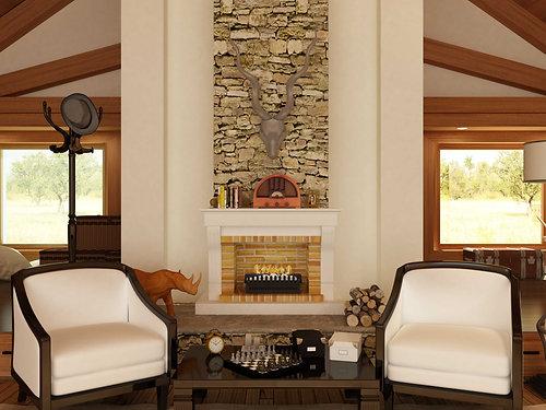 Universal Grate Fireplace (VFG-800)