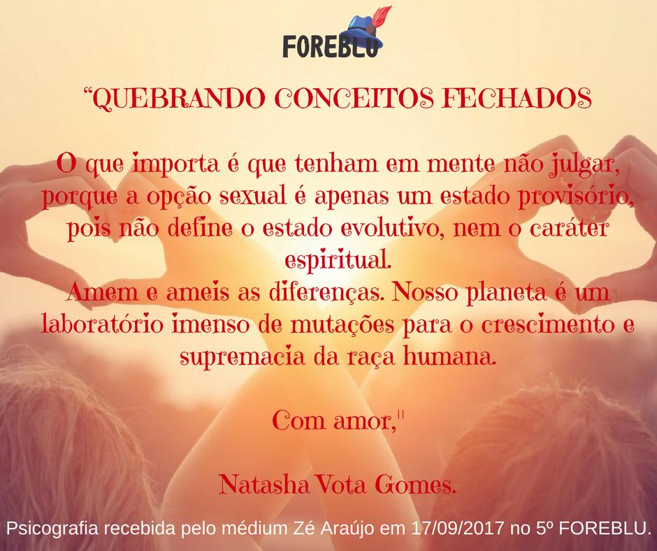 Quebrando conceitos fechados - Natasha Vota Gomes