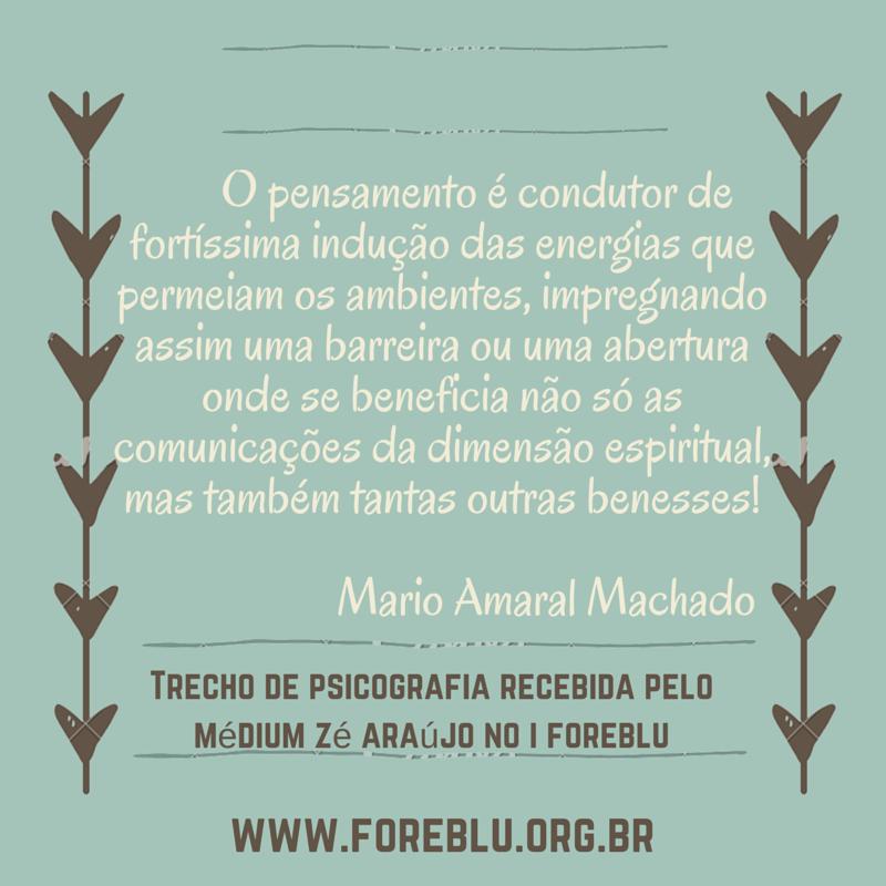 Psicografia Mario Amaral Machado