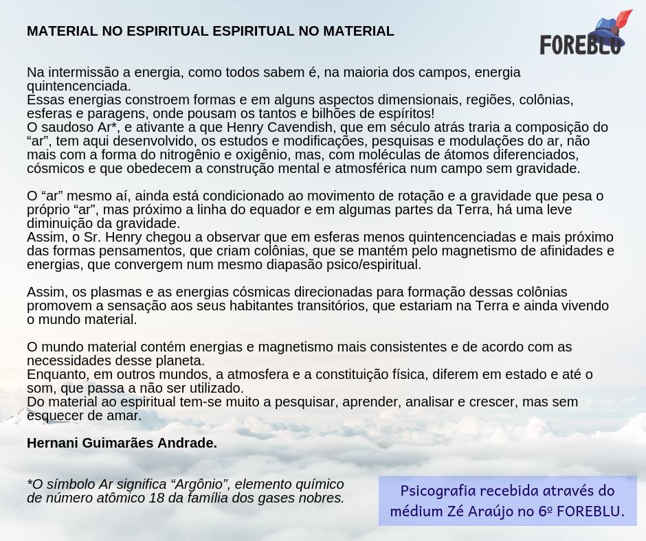 HGA - Espiritual no material, material n
