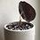 """Thumbnail: Alocasia Cuprea in 4"""" concrete planter"""