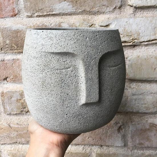 """5.5"""" Concrete face planter"""