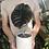 """Thumbnail: Large Alocasia Cuprea in 6"""" concrete planter"""