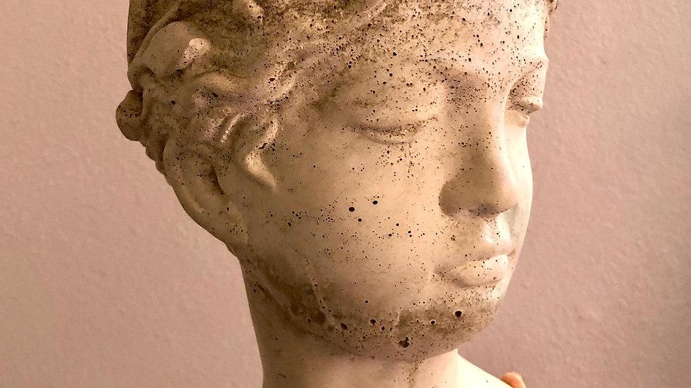 "Handmade 5"" Goddess cement planter"
