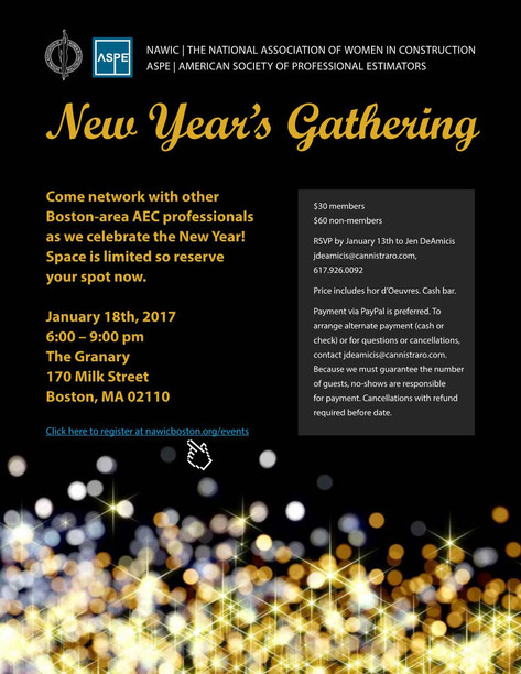 January Networking Social with  NAWIC & ASPE - Tickets Now Available