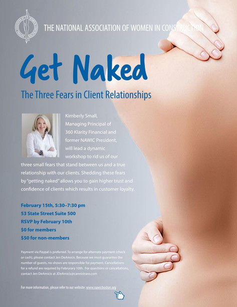 NAWIC Boston Presents Get Naked: The Three Fears in Client Relationships