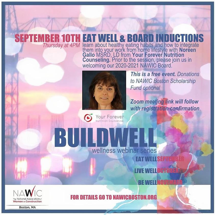 BUILDWELL Wellness Series: Eat Well & Board Inductions