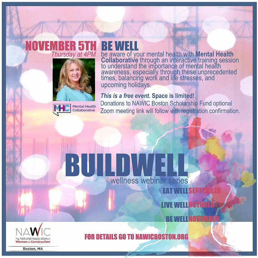 BUILDWELL Wellness Series: Be Well - Mental Health