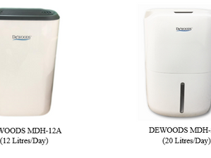 Small or Medium Dehumidifier for Your Home or Office Use