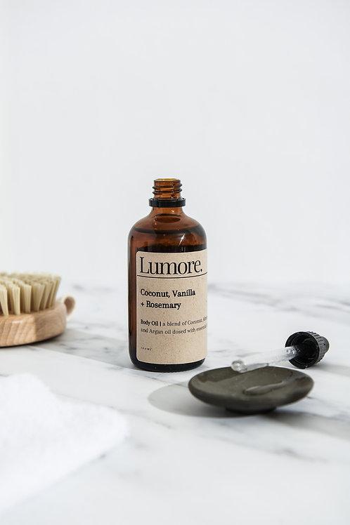 Coconut, Rosemary + Vanilla Body Oil