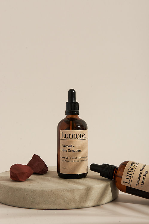 Ho-Wood + Rose Geranium Body Oil