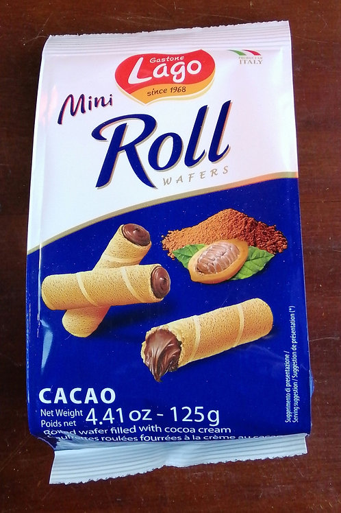 Lago - Mini Roll cacao wafers 125 g