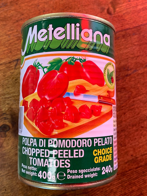 Metelliana - Chopped peeled tomatoes - 400g