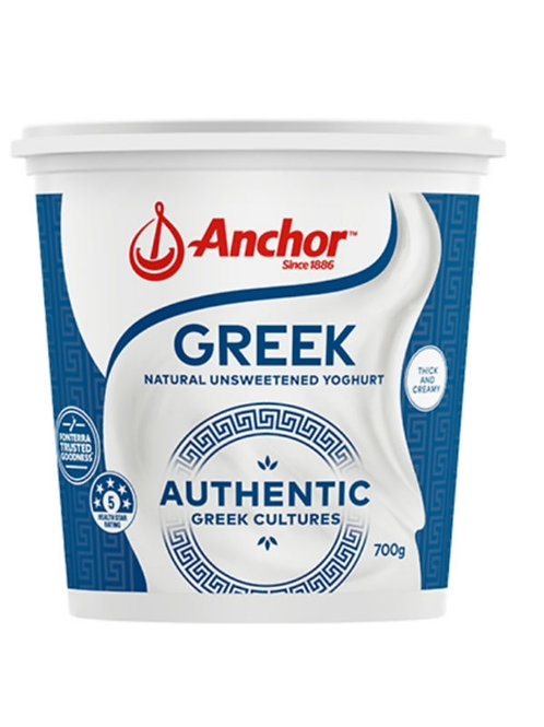Anchor Authentic Greek Yoghurt Tub Natural Unsweetened 700g