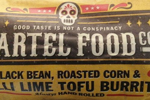 Cartel food co chilli lime tofu burrito