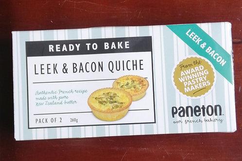 Paneton Leek & Bacon Quiche - 2 pack
