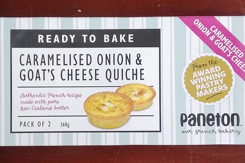 Caramelised Onion & Goats Cheese Quiche - 2 pack