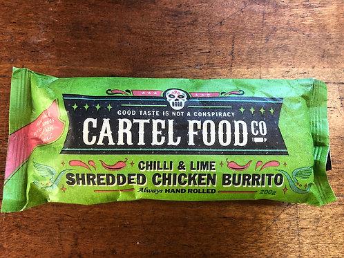 Cartel Food Co Burrito Chilli & Lime Shredded Chicken 200g
