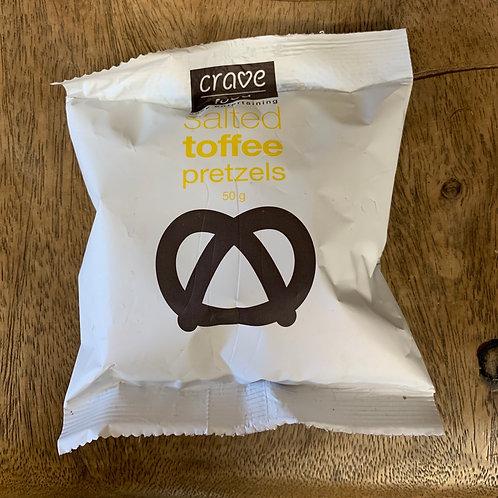 Crave food - Salted Toffee Pretzels - 50g