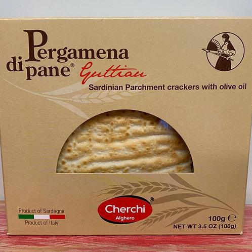 Pergamena di pane - Sardinian Parchment crackers with olive oil - 100g