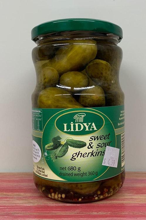 Lidya - Sweet & Sour gherkins - 680g