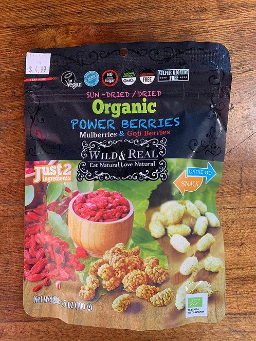Sun-dried / dried organic power berries 100g