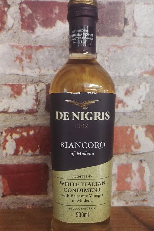 De Nigris White Italian Condiment Balsamic Vinegar