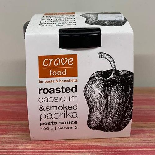 Crave food - Roasted capsicum & smoked paprika - 120g