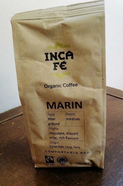 IncaFe Organic Filter Ground Coffee Beans - Marin 200g