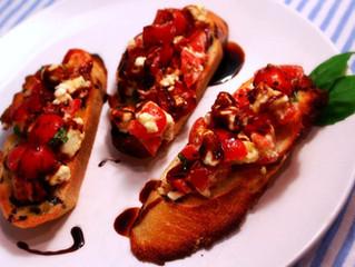 Tomato & Feta Bruschetta with Balsamic Syrup